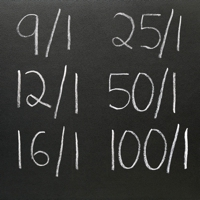 Blackboard with odds